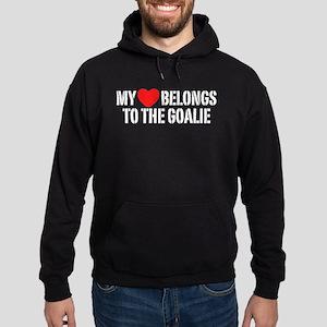 My Heart Belongs To The Goalie Hoodie (dark)