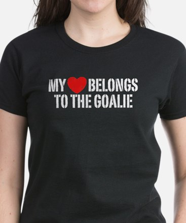 My Heart Belongs To The Goalie Women's Dark T-Shir