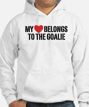 My Heart Belongs To The Goalie Hoodie