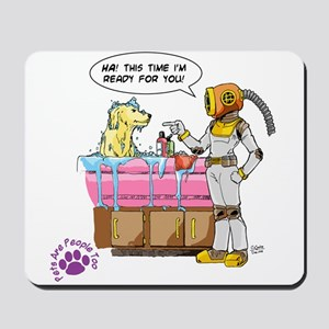 Groomer Humor - Battle Ready Mousepad