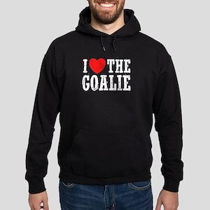 I Love The Goalie Hoodie (dark)