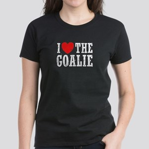 I Love The Goalie Women's Dark T-Shirt
