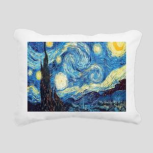 starry night van gogh Rectangular Canvas Pillow