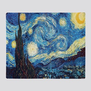starry night van gogh Throw Blanket
