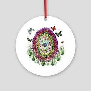 Jewel Art Easter Egg Round Ornament