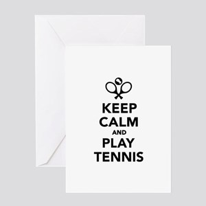Keep calm and play tennis greeting cards cafepress keep calm and play tennis greeting card m4hsunfo Choice Image