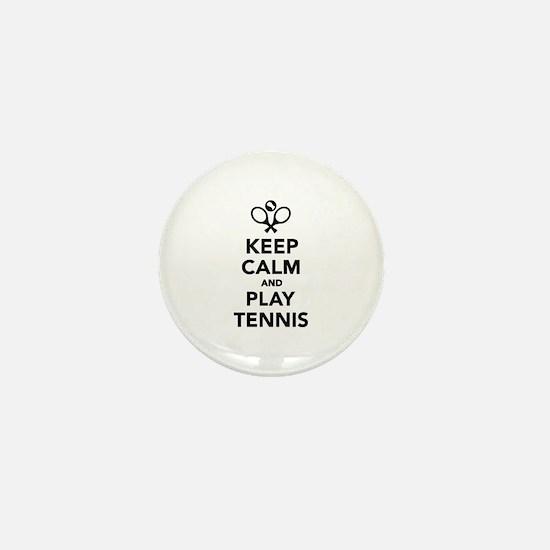 Keep calm and play Tennis Mini Button
