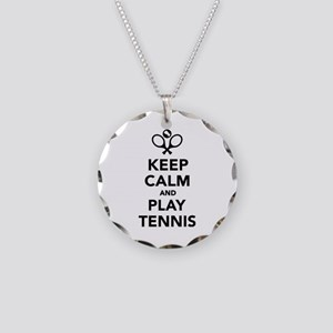Keep calm and play Tennis Necklace Circle Charm