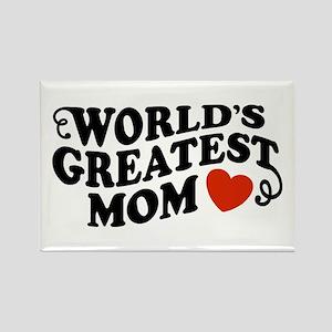 World's Greatest Mom Rectangle Magnet