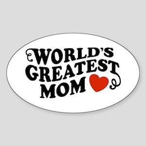 World's Greatest Mom Oval Sticker