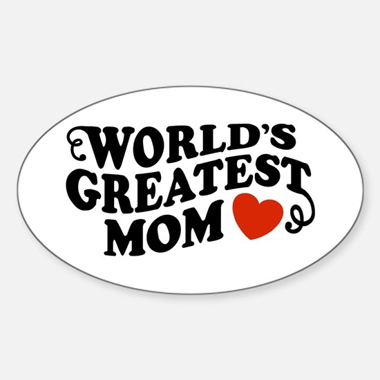 World's Greatest Mom Oval Decal