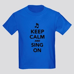 Keep calm and sing on Kids Dark T-Shirt