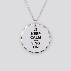 Keep calm and sing on Necklace Circle Charm