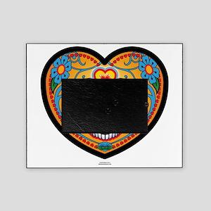 EL DiA DE LOS MUERTOS Heart Head Picture Frame