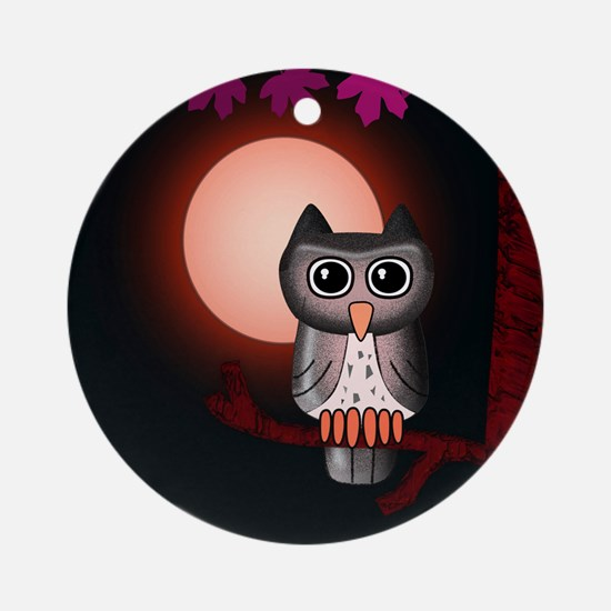 Red Owl Ornament (Round)