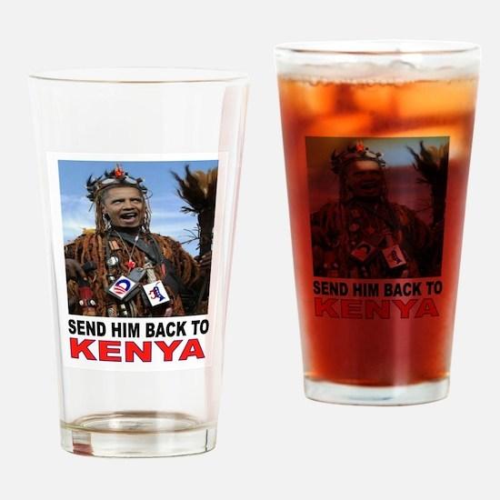 BARACK GO BACK Drinking Glass