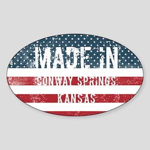 Made in Conway Springs, Kansas Sticker