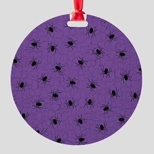 Purple Spider Pattern Ornament