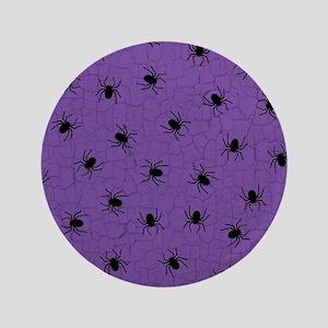 """Purple Spider Pattern 3.5"""" Button"""