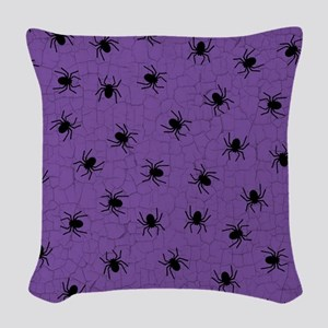 Purple Spider Pattern Woven Throw Pillow