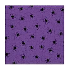 Purple Spider Pattern Tile Coaster