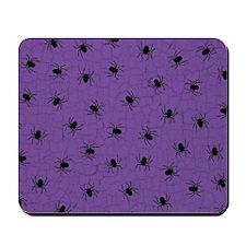 Purple Spider Pattern Mousepad