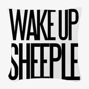 Wake up Sheeple Woven Throw Pillow