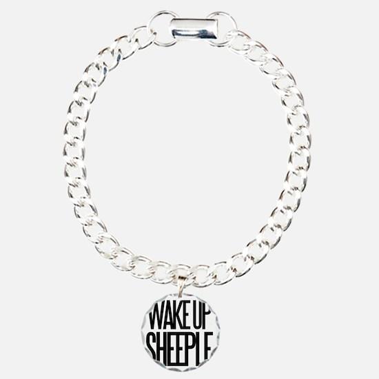 Wake up Sheeple Charm Bracelet, One Charm