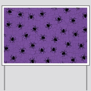 Purple Spider Pattern Yard Sign