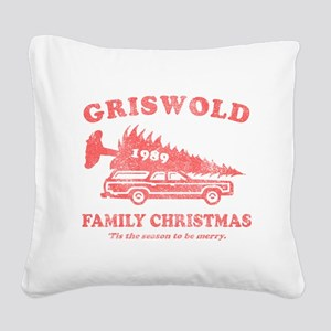 griswold_family_christmas-red Square Canvas Pillow