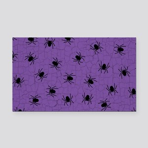 Purple Spider Pattern Rectangle Car Magnet