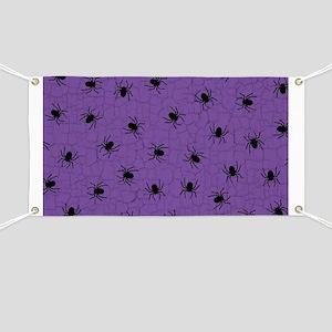 Purple Spider Pattern Banner