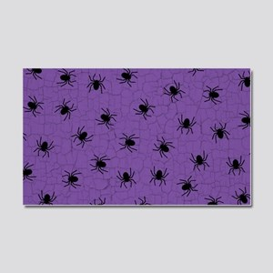 Purple Spider Pattern Car Magnet 20 x 12