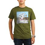 Triple Sock Cow Organic Men's T-Shirt (dark)