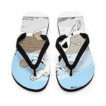 Triple Sock Cow Flip Flops