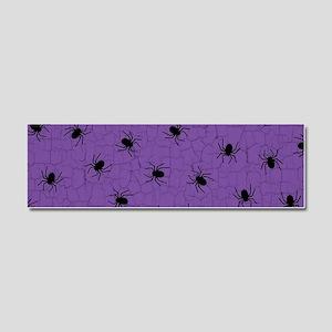 Purple Spider Pattern Car Magnet 10 x 3