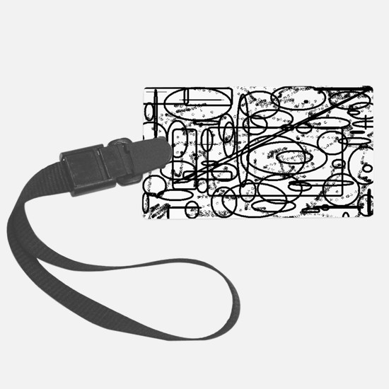 ABSTRACT MONOTONE SHAPES Luggage Tag