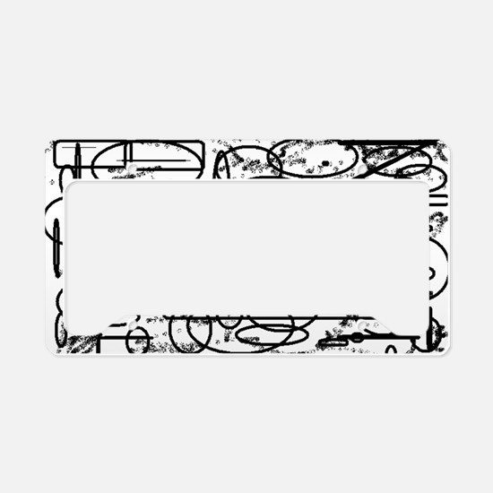 ABSTRACT MONOTONE SHAPES License Plate Holder