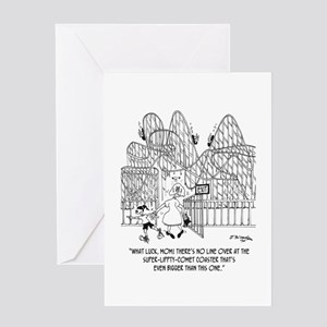What Luck! No Line. Greeting Card