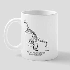Dinosaur Calcium Supplements 11 oz Ceramic Mug
