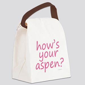 how's your aspen? pink Canvas Lunch Bag