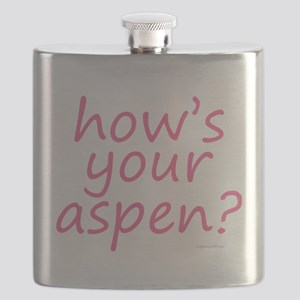 how's your aspen? pink Flask