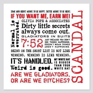 Scandal Quotes 5.25 x 5.25 Flat Cards