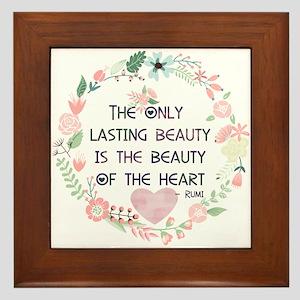Beauty of the Heart Framed Tile