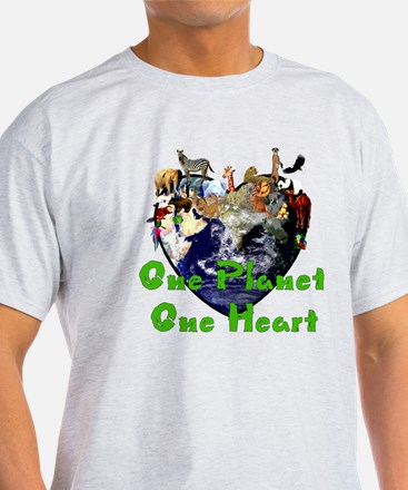 One Planet One Heart T-Shirt