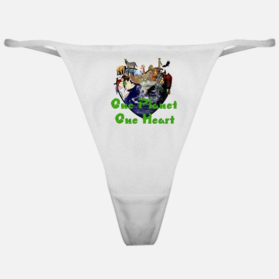 One Planet One Heart Classic Thong