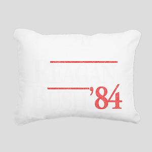 reagan_bush_84_black cop Rectangular Canvas Pillow