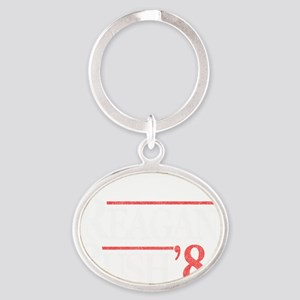 reagan_bush_84_black copy Oval Keychain