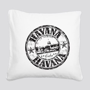 Cuba Square Canvas Pillow