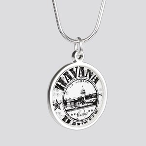 Cuba Silver Round Necklace